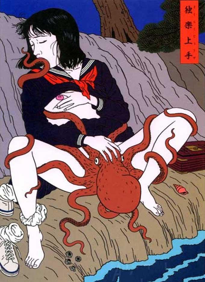 "Тошио Саеки (Toshio Saeki) ""Erotic illustration - 13"""