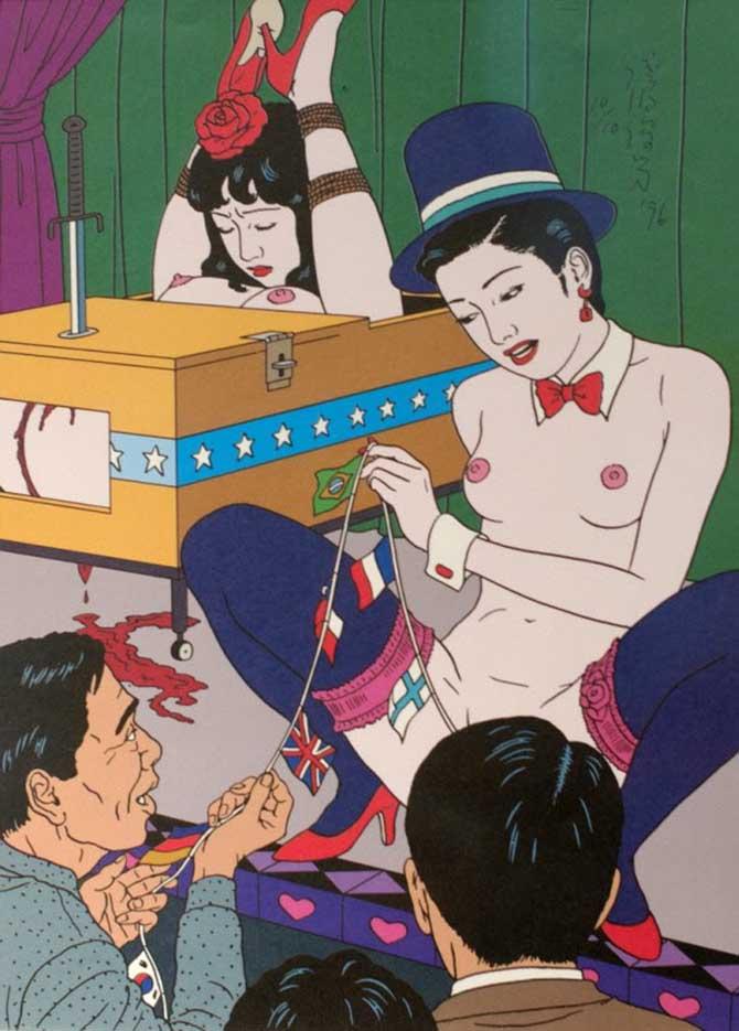 "Тошио Саеки (Toshio Saeki) ""Erotic illustration - 32"""