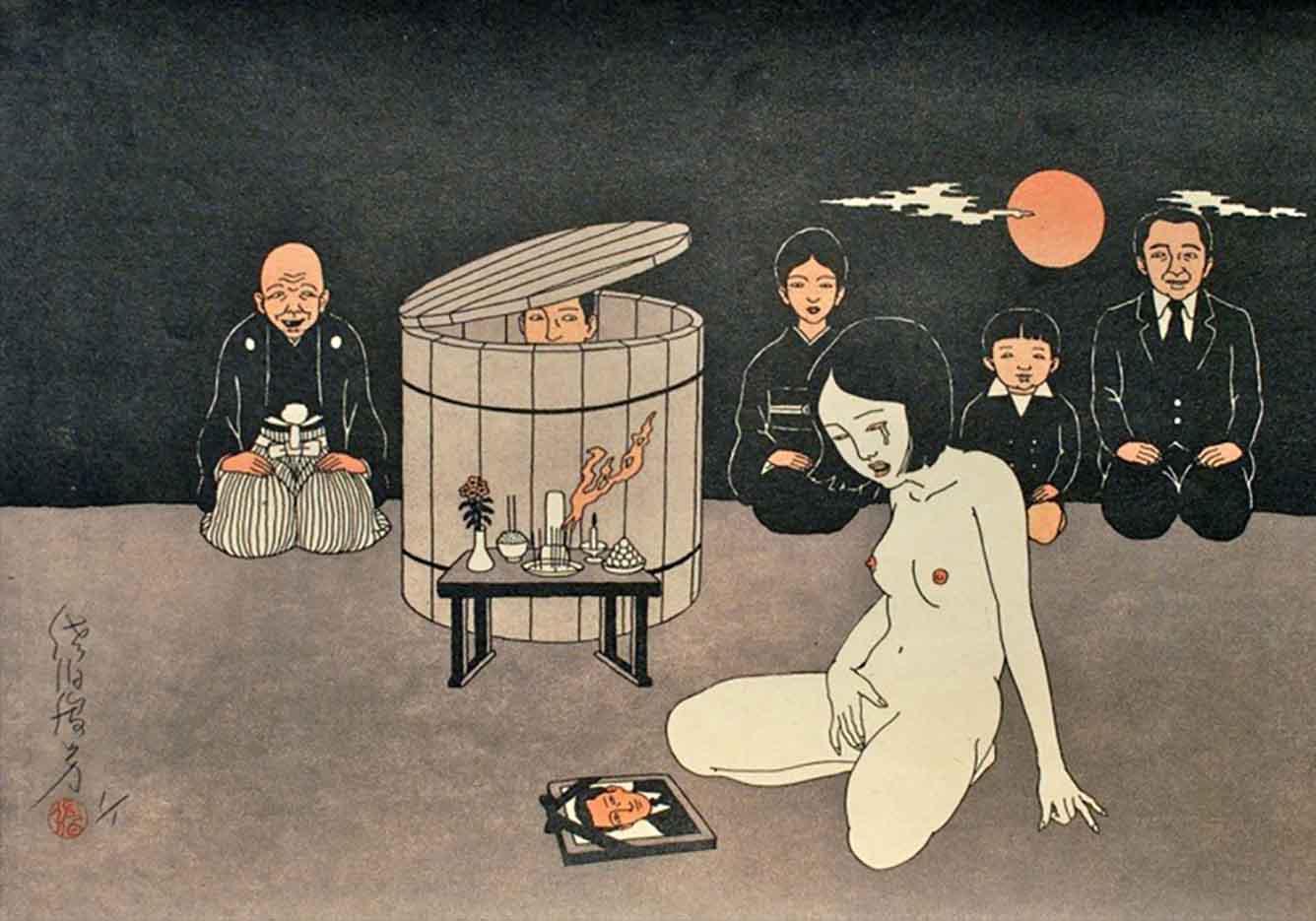 "Тошио Саеки (Toshio Saeki) ""Erotic illustration - 55"""