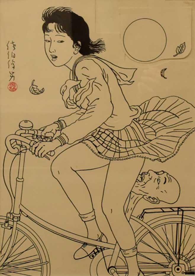 "Тошио Саеки (Toshio Saeki) ""Erotic illustration - 58"""