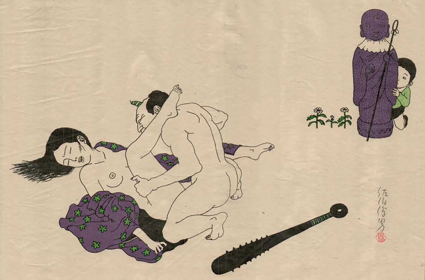 "Тошио Саеки (Toshio Saeki) ""Erotic illustration - 65"""