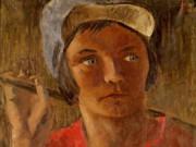 """Александр Николаевич Самохвалов (Alexander Nikolayevich Samokhvalov) """"Портрет полевой работницы Анны Ульяновой"""""""