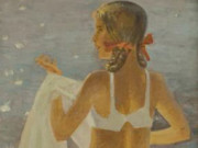 "Александр Николаевич Самохвалов (Alexander Nikolayevich Samokhvalov) ""Девочка с полотенцем (2)"""