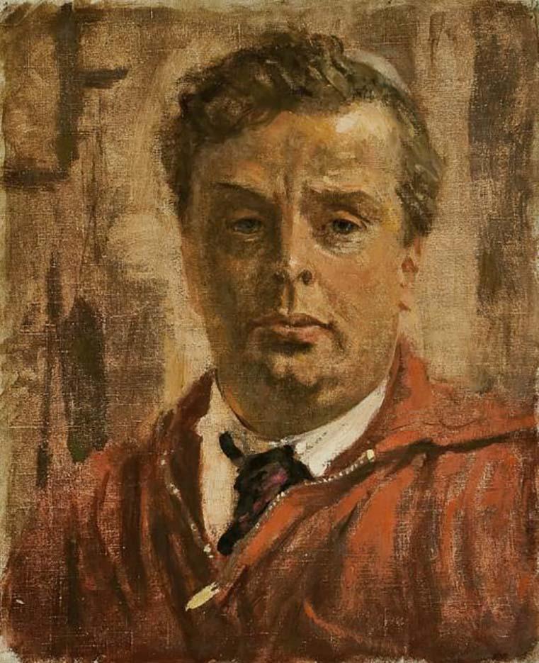 "Александр Николаевич Самохвалов (Alexander Nikolayevich Samokhvalov) ""Автопортрет | Self portrait"""