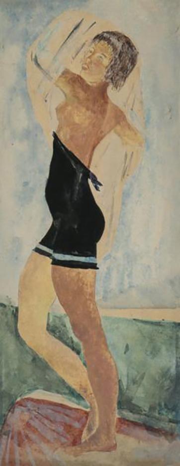 """Александр Николаевич Самохвалов (Alexander Nikolayevich Samokhvalov) """"Девушка в черном купальнике"""""""