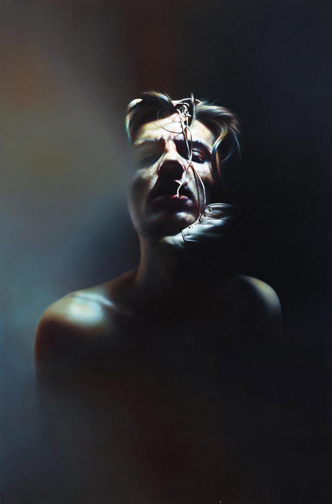 """Иштван Шандорфи (István Sándorfi) """"Self-portrait with Kid's Shoes"""""""