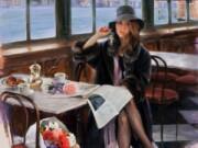"""Рикардо Санз (Ricardo Sanz) """"Esperando en el Cafe"""""""