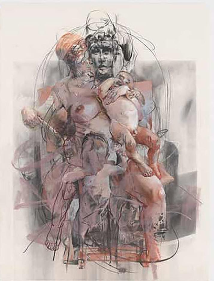 "Дженни Савиль (Jenny Saville) ""Study for Isis and Horus"""