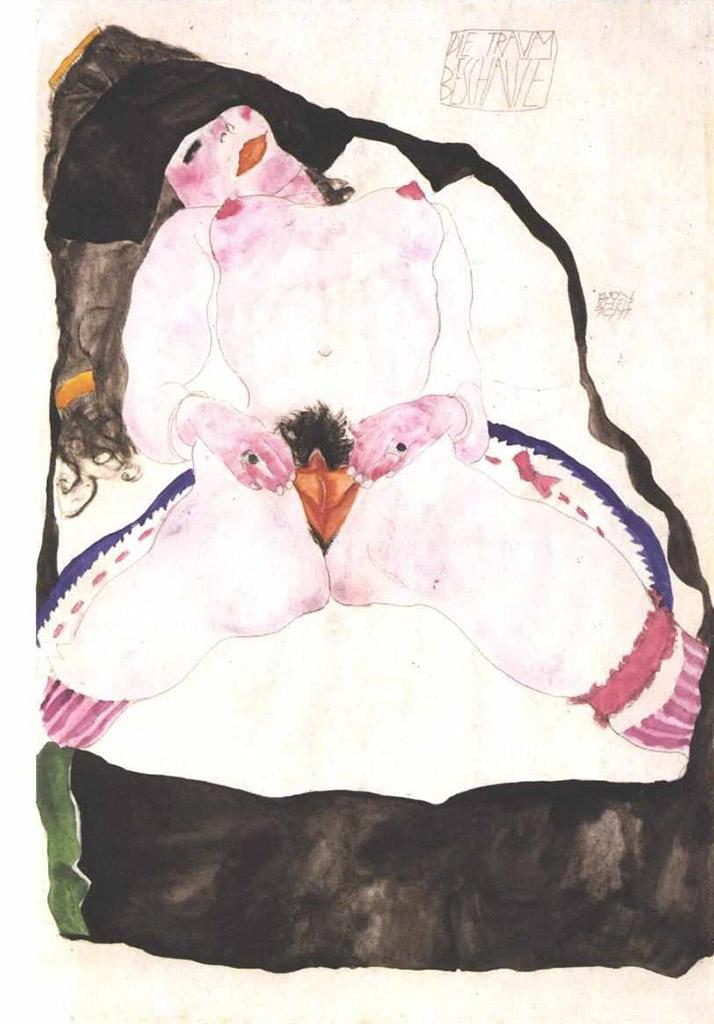 "Эгон Шиле (Egon Schiele), ""Die Traumbeschaute"""