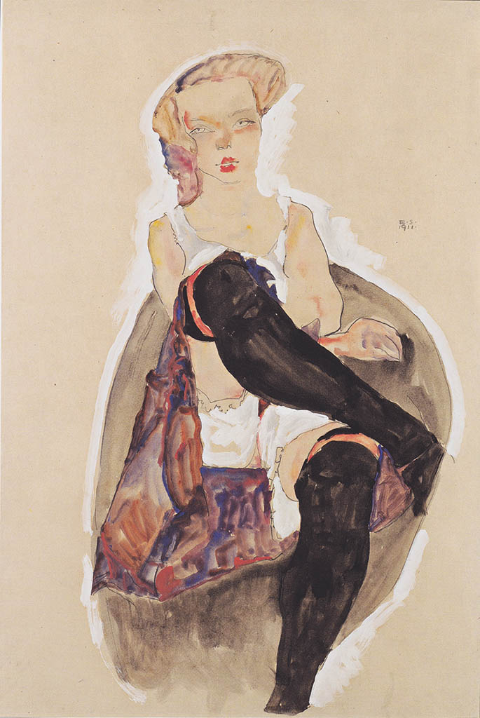 """Эгон Шиле (Egon Schiele), """"Madchen mit ubereinandergeschlagenen Beinen"""""""