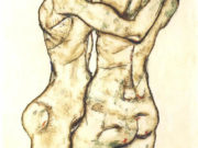 "Эгон Шиле (Egon Schiele), ""Girls embracing each other"""