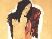 """Эгон Шиле (Egon Schiele), """"Zwei liegende Madchen"""""""