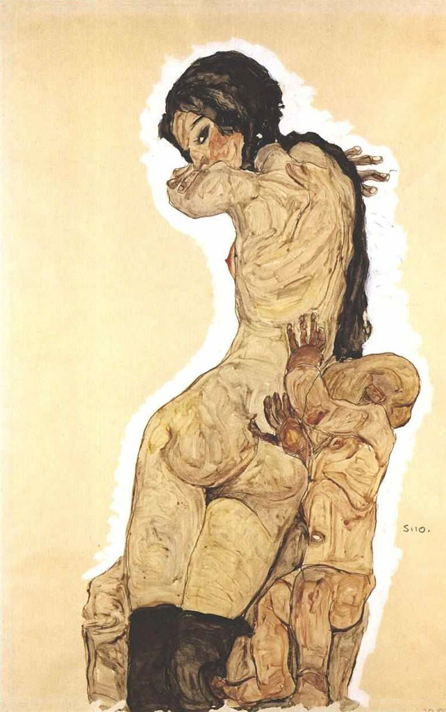 "Эгон Шиле (Egon Schiele), ""Mother and child"""