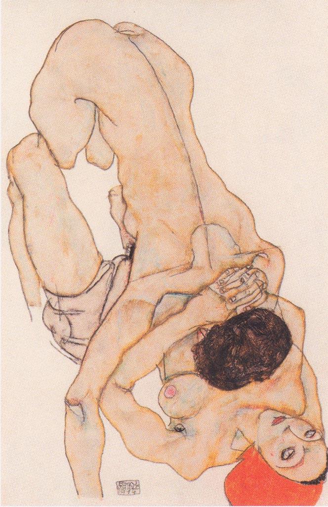 "Эгон Шиле (Egon Schiele), ""Lesbisches Liebespaa"""
