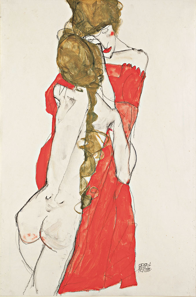 "Эгон Шиле (Egon Schiele), ""Mother and Daughter"""