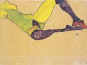 """Эгон Шиле (Egon Schiele), """"Liegender weiblicher Akttorso"""""""