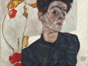 """Эгон Шиле (Egon Schiele), """" Автопортрет с физалисом"""""""