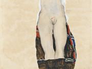 """Эгон Шиле (Egon Schiele), """"Seated Girl (Poldi Lodzinsky)"""""""