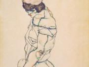 """Эгон Шиле (Egon Schiele), """"Nach links schreitender Frauenakt"""""""