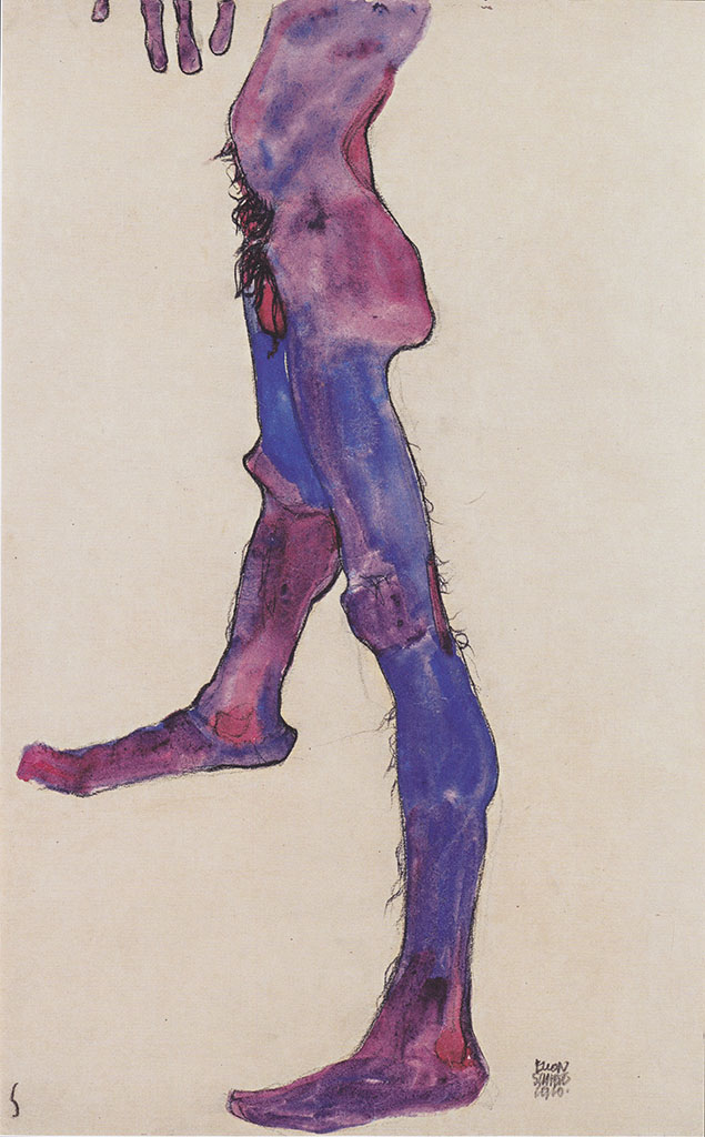 """Эгон Шиле (Egon Schiele), """"Mannlicher Unterleibstorso"""""""