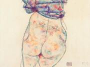 """Эгон Шиле (Egon Schiele), """"Sich entkleidende Frau"""""""