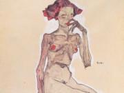 "Эгон Шиле (Egon Schiele), ""Sitzender Madchenakt"""