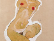 "Эгон Шиле (Egon Schiele), ""Squatting Female Nude"""