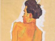 """Эгон Шиле (Egon Schiele), """"Stehender mannlicher Ruckenakt"""""""
