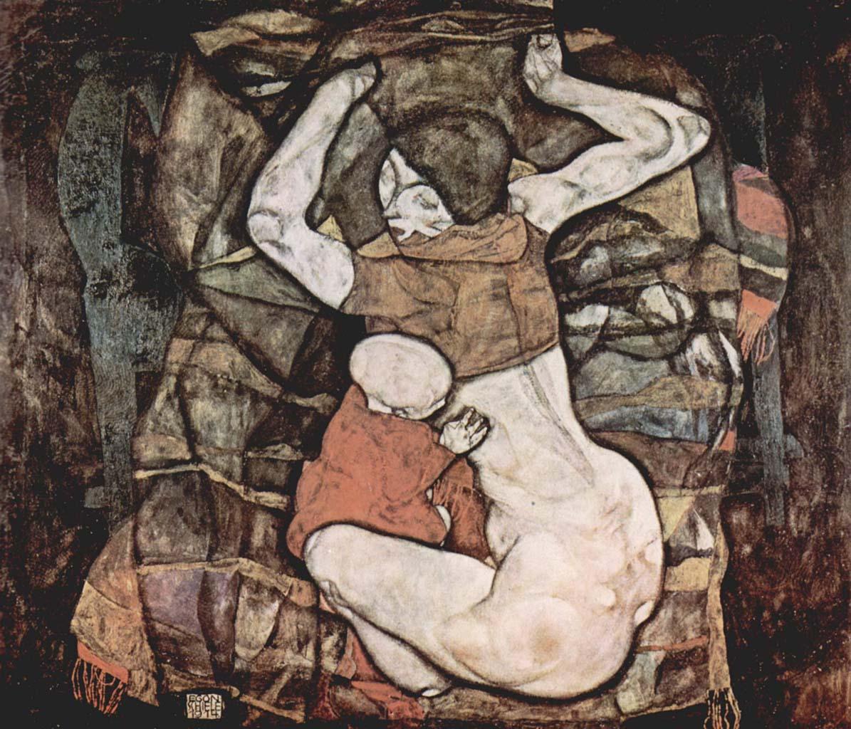 """Эгон Шиле (Egon Schiele), """"Молодая мать"""""""