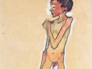 "Эгон Шиле (Egon Schiele), ""Stehener Knabenakt"""
