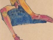 "Эгон Шиле (Egon Schiele), ""Torso auf Blauem Tuch"""