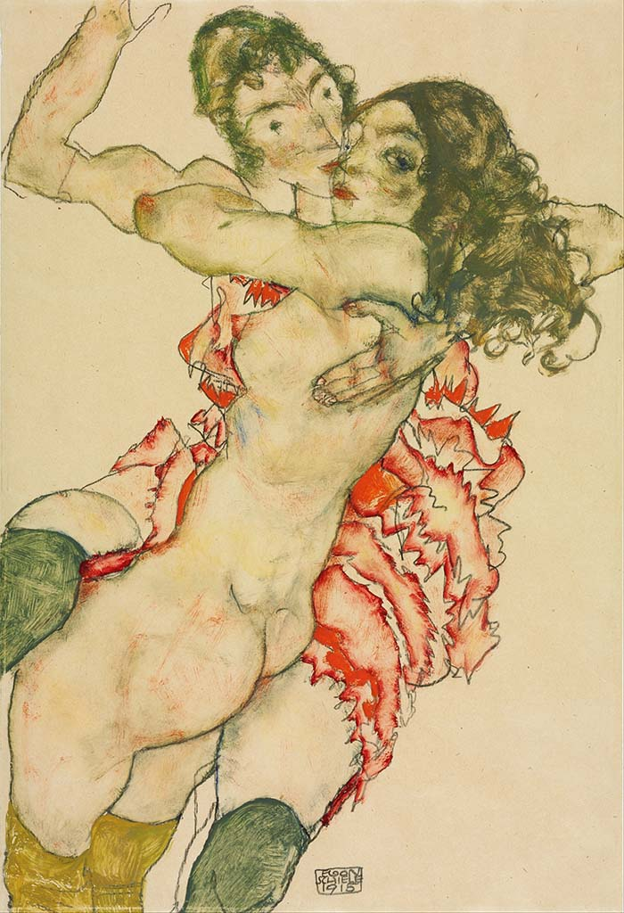 "Эгон Шиле (Egon Schiele), ""Two Women Embracing"""