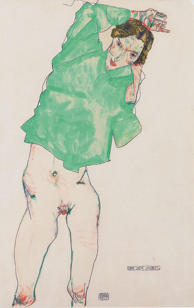 "Эгон Шиле (Egon Schiele), ""Vor dem Spiegel"""