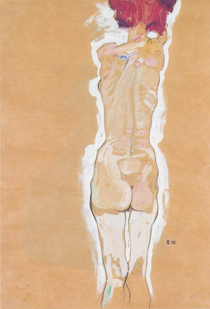"""Эгон Шиле (Egon Schiele), """"Weiblicher Ruckenakt"""""""