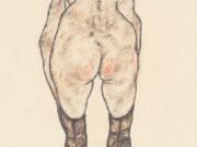 """Эгон Шиле (Egon Schiele), """"Weiblicher Ruckenakt (2)"""""""