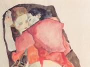 "Эгон Шиле (Egon Schiele), ""Zwei Madchen"""