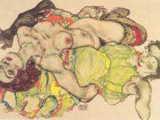 "Эгон Шиле (Egon Schiele), ""Weibliches Liebespaar"""