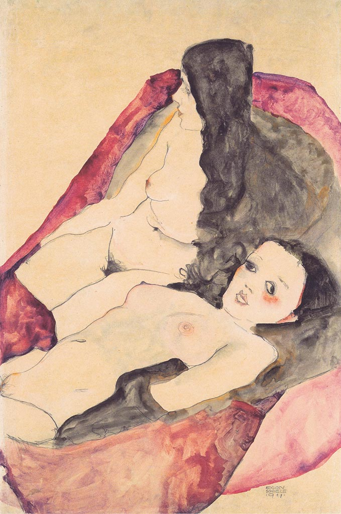 "Эгон Шиле (Egon Schiele), ""Zwei Madchenakte"""