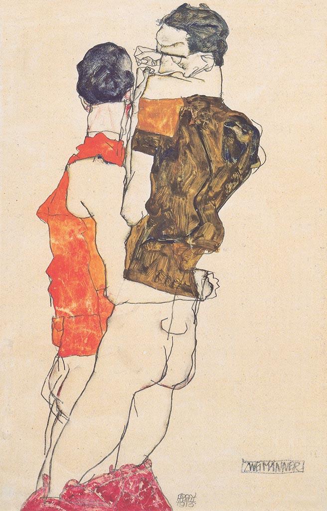 """Эгон Шиле (Egon Schiele), """"Zwei Manner"""""""