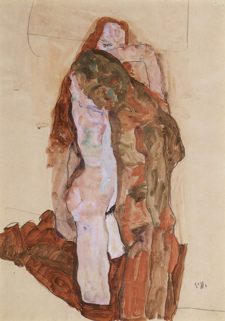 "Эгон Шиле (Egon Schiele), ""Woman and Man"""