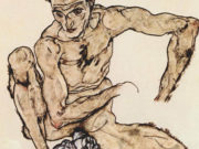 "Эгон Шиле (Egon Schiele), ""Self-portrait 1917"""