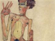 "Эгон Шиле (Egon Schiele), ""Kniender Akt, Selbstportrat"""