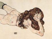 """Эгон Шиле (Egon Schiele), """"Liegender weiblicher Akt"""""""