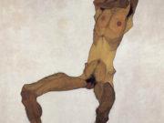 """Эгон Шиле (Egon Schiele), """"Sitzender mannlicher Akt"""""""