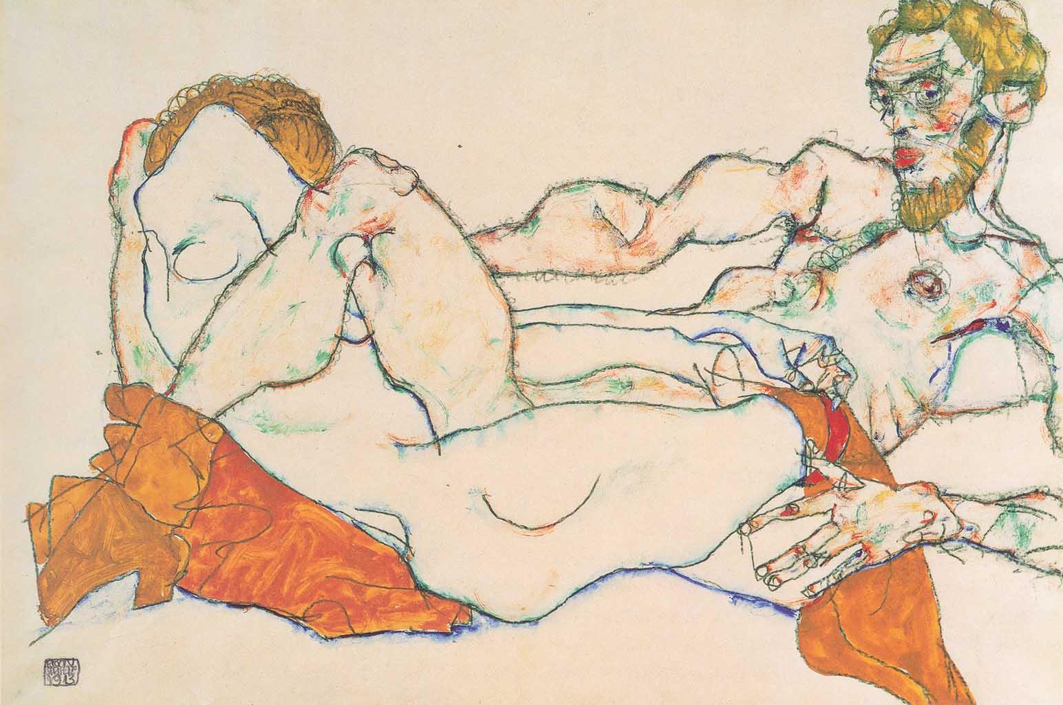 """Эгон Шиле (Egon Schiele), """"Liebespaar (2)"""""""