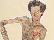 "Эгон Шиле (Egon Schiele), ""Grimassierendes Aktselbstbildnis"""