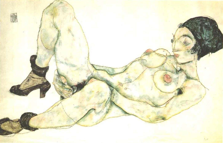 "Эгон Шиле (Egon Schiele), ""Frau mit grunem Turban"""