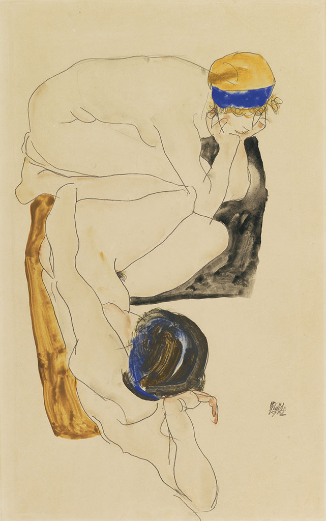 "Эгон Шиле (Egon Schiele), ""Two Reclining Figures"""