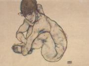 """Эгон Шиле (Egon Schiele), """"Sitzender weiblicher Akt"""""""