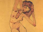 """Эгон Шиле (Egon Schiele), """"Sitzender weiblicher Akt (2)"""""""